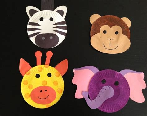 Crafts With Construction Paper And Glue - safari theme crafts paint plates construction paper