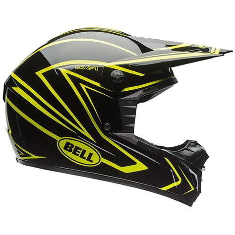 yellow motocross helmets bell helmets mx 2017 sx 1 whip pin black yellow dirt