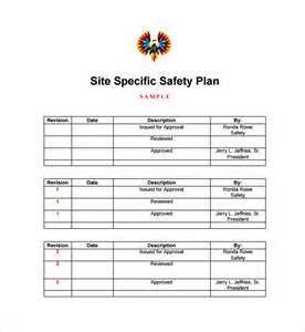 sample safety plan template 10 free samples examples