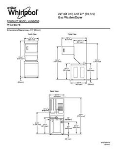 dimensions of whirlpool duet washer and dryer types of stack whirlpool wgt4027ew washer dryer combo white on white pcrichard wgt4027ew