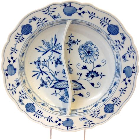 blue onion pattern meissen blue onion pattern divided serving dish from