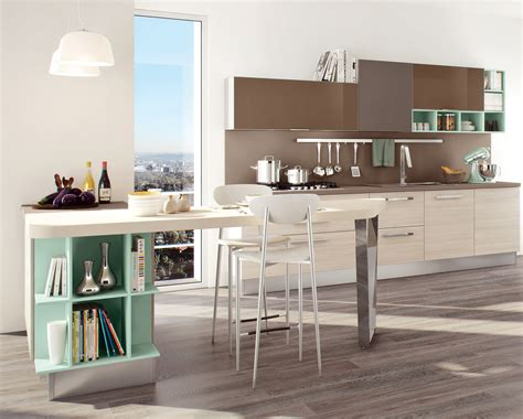 Swing Kitchen by Swing Kitchen With Peninsula By Cucine Lube