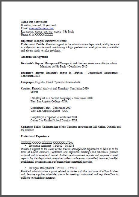 Modelo De Curriculum Para España Modelos De Curr 237 Culo Em Ingl 234 S Curr 237 Culos Inteligentes