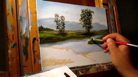 free painting guide green demonstration basic traditional landscape
