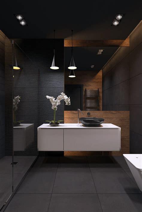 schwarzes badezimmer bathroom blackstyle on inspirationde