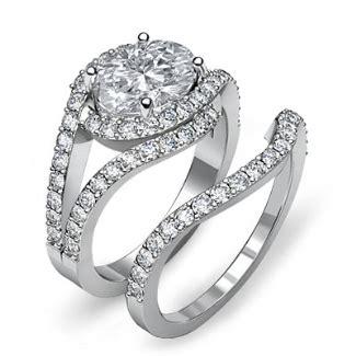 engagement ring halo pave set vs1 vs2 platinum halo oval bridal set engagement pave ring i vs2 platinum 950 2 2 ct ebay