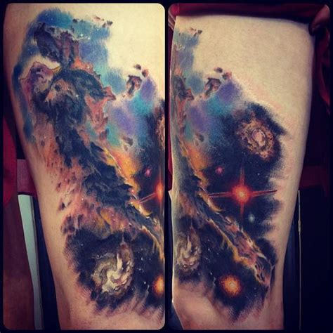 watercolor tattoo universe best galaxy tattoos trend fashion wear the universe on