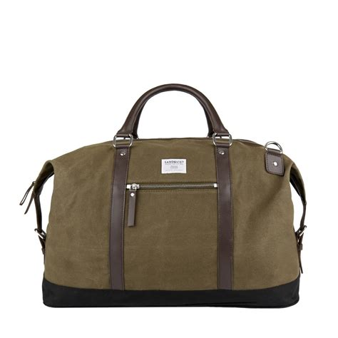 A Weekend Bag For The by Sandqvist Uk Olive Weekend Bag