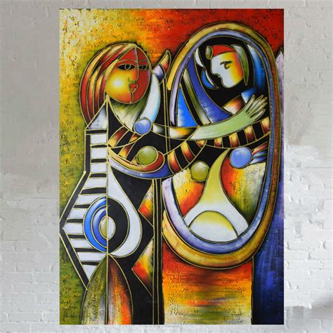 picasso paintings in mirror aliexpress buy 100 painted painting on