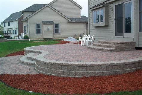 raised patio pavers raised paver patio brick pavers canton plymouth