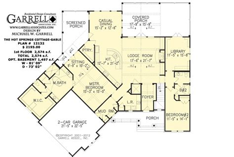207flr house plans ranch style hot springs cottage plan 1000 images about house ideas on pinterest ranch house