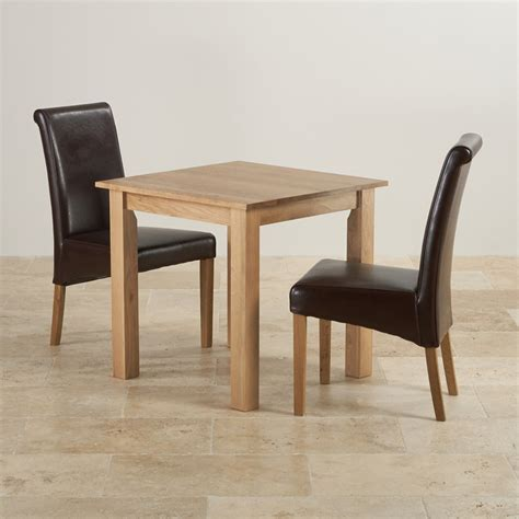 Leather Chairs For Dining Table Hudson Dining Set In Oak Table 2 Leather Chairs