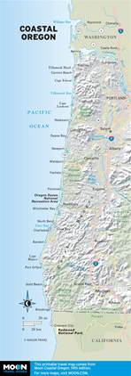 map oregon coast the best oregon coast beaches for surfing moon travel guides