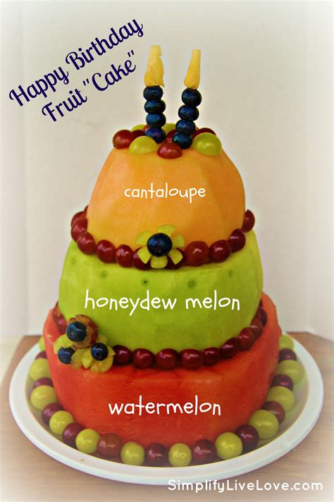 Backyard Chickens Book Happy Birthday Fruit Quot Cake Quot A Tutorial Simplify Live