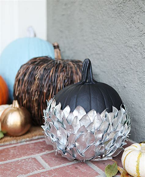 pumpkin home decor pumpkin parade silver leaf pumpkin decorating outside