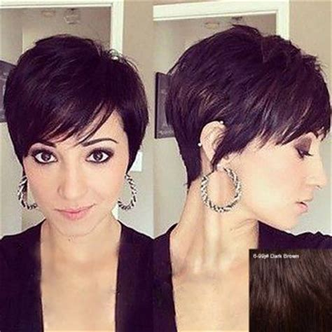 real hair wigs for white women straight short brown black multicolor human hair wigs