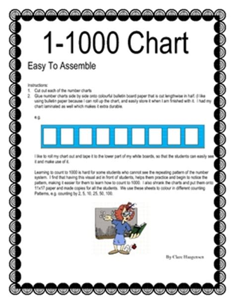 number chart 1000 number words to 1000 chart quot quot sc quot 1 quot st