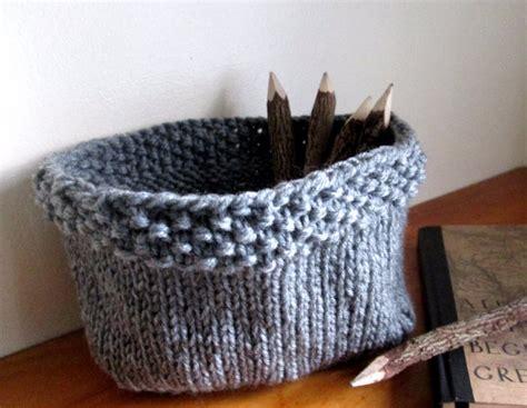 knitted basket pattern knit basket pattern knitted bowl pattern diy knit basket