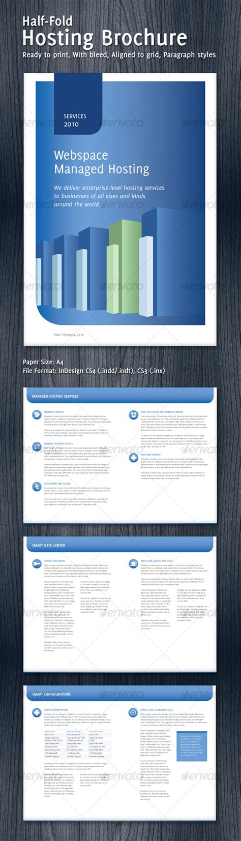 Half Fold Hosting Brochure By Id512 Graphicriver Half Fold Brochure Template Powerpoint