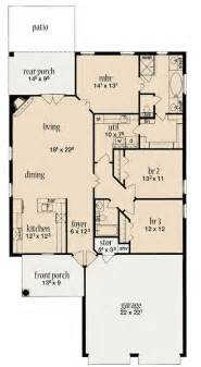 Wide House Floor Plans home plan under 40 feet wide 84014jh architectural