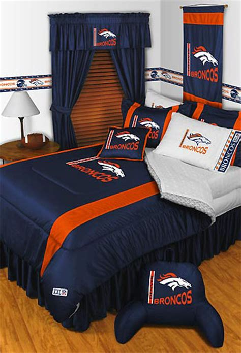 new nfl denver broncos football bed n bag comforter