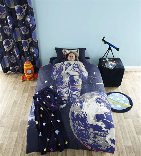 astronaut bedding astronaut spaceman single duvet quilt cover bed set and or