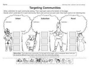 urban and rural communities worksheets car tuning