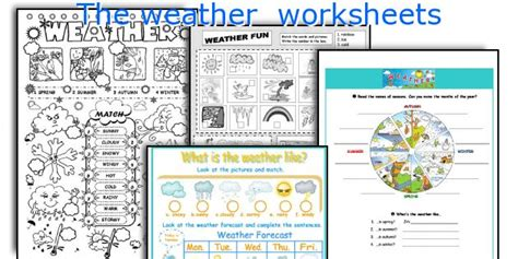 Weather Forecast Worksheet Elementary