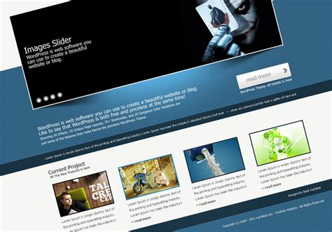 Professional Portfolio Website Templates Free Professional Portfolio Web Site Template