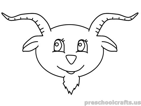 goat coloring pages kindergarten free printable goat coloring pages for kindergarten