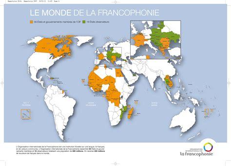 le francais dans tous 2757859994 la carte de la francophonie fle la francophonie