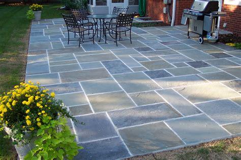 Blue Stone Patio Designs ? Unique Hardscape Design : Long