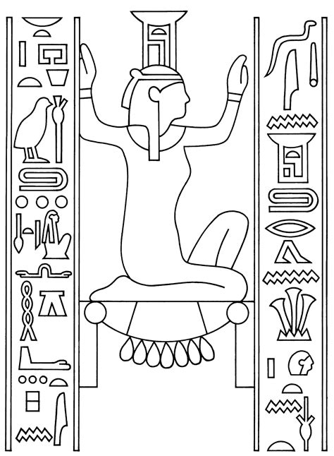 printable egyptian art ancient egypt coloring pages to download and print for