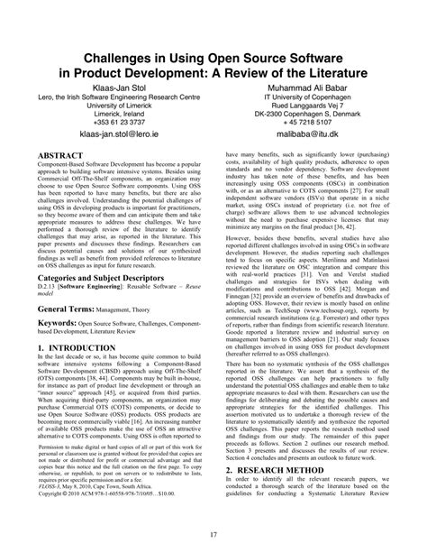 Product Design Literature Review by Literature Review Of Software Engineering