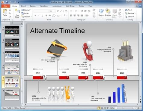 Awesome Timeline Toolkit For Powerpoint Presentations Animated Timeline Powerpoint Template