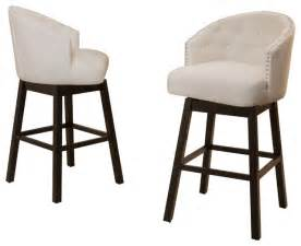 westman beige fabric swivel backed barstool set of 2 transitional bar stools and counter