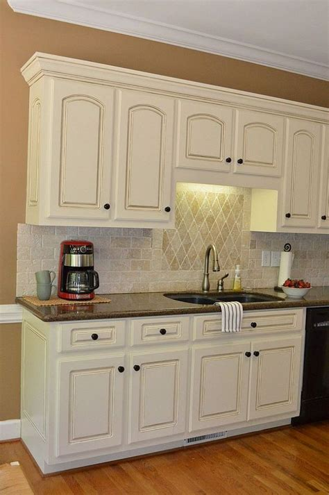 Glazing Painted Kitchen Cabinets Painted Kitchen Cabinet Details Sherwin Wms Antique White With Valspar Glaze Home