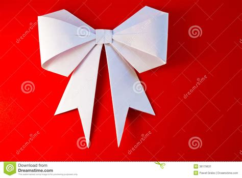Origami With Ribbon - origami bow and ribbon stock image image of events