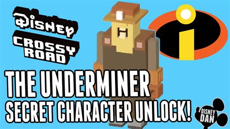 how do u find the mystery characters in cross road disney crossy road secret character the underminer the