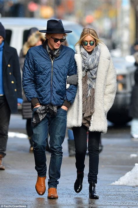 Boyfriend Blue Classic Model Murah gigi hadid walks arm in arm with boyfriend in