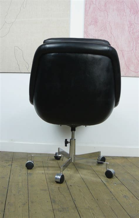 Office Chairs Nearby Slick Looking Vintage 1970s Black Office Chair Near Mint