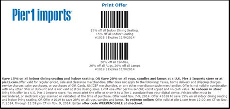 pier one coupon pier 1 imports coupons promotions specials for november 2018