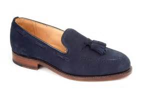 navy loafer finchley s navy blue suede calf tassel loafer