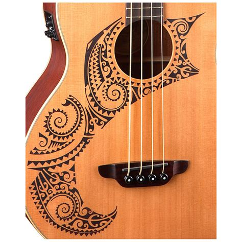luna tattoo disc electro acoustic bass cedar at