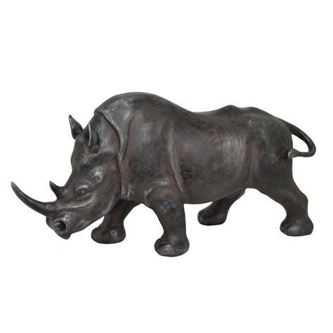 three hands home decor three hands resin rhino decor 78095 the home depot