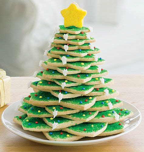 star shaped cookie cutters make a tree so cute from