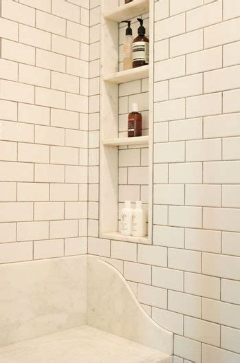 shower niches between the studs recessed shelves shower