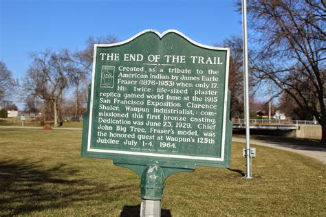 The End Of The Trail wisconsin historical markers the end of the trail statue