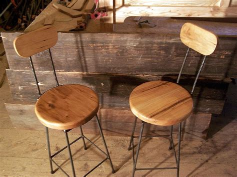Maple Swivel Bar Stools by Buy A Crafted Reclaimed Maple Swivel Bar Stools With