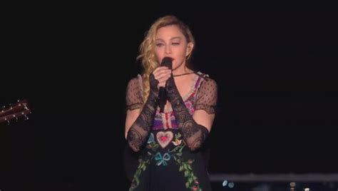 Madonna Fan Attacks by Madonna Pays Tribute To Victims Of Terror Attacks
